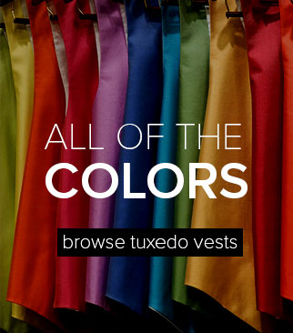 Browse Rental Tuxedo Vests by Color