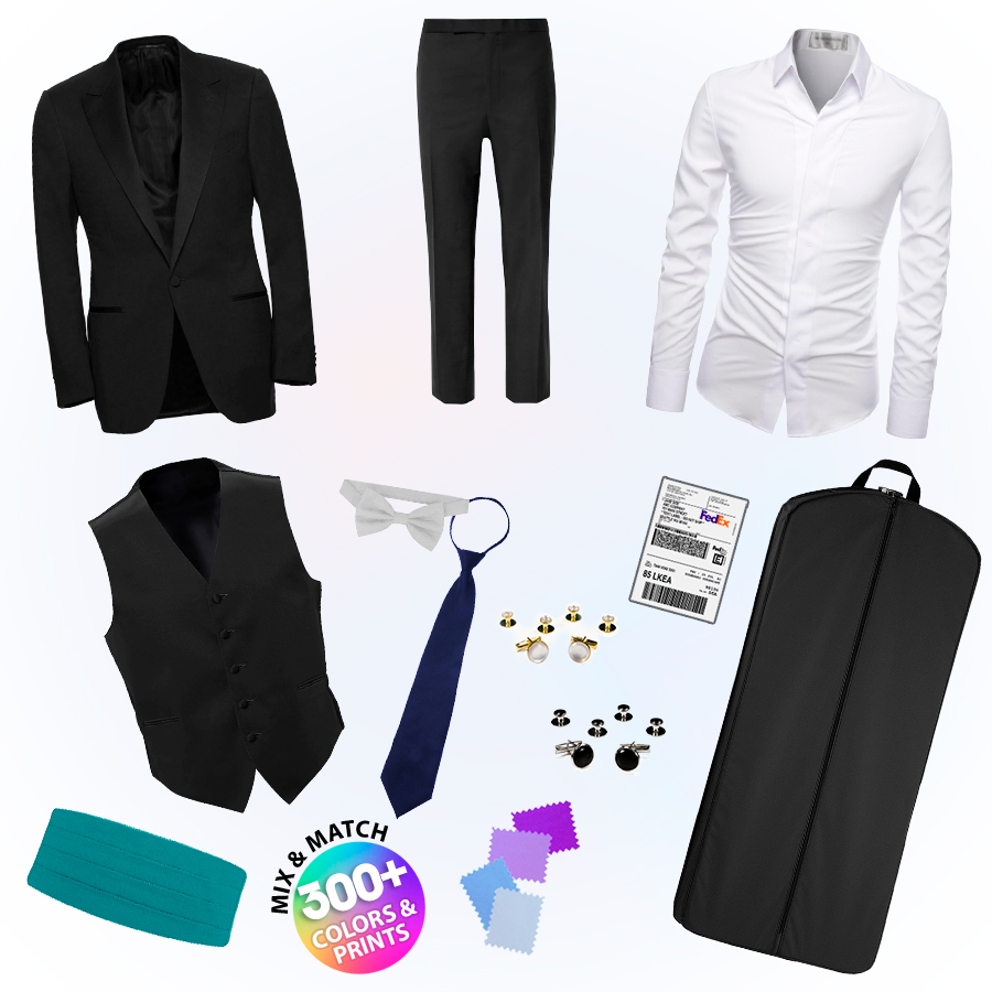 A complete tuxedo rental has everything you need.